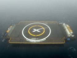 SpaceX Falcon 9 barge