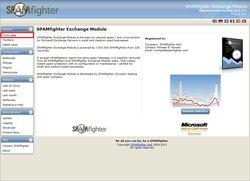 SPAMfighter Exchange Module screen 1