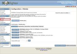 SPAMfighter Exchange Module screen 2