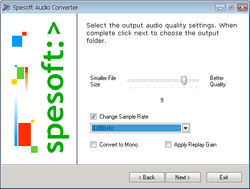 Spesoft Free Audio Converter screen1