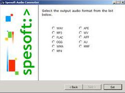 Spesoft Free Audio Converter.