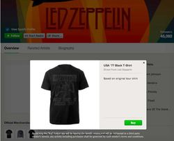 spotify merch led zep