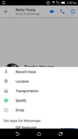Spotify Messenger