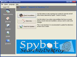 Spybot - Search & Destroy screen 1