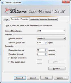 SQL Server 2012 screen 1