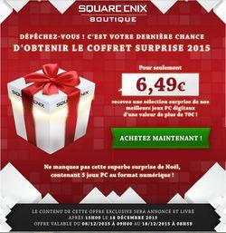 Square Enix pack surprise Noel 2015