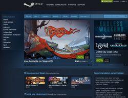 Steam - page accueil