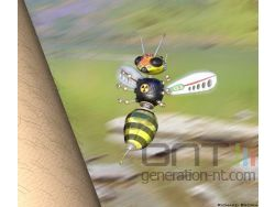 Sting abeille techno organique raytracing small