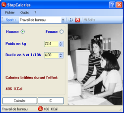 StopCalories screen 2