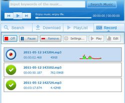 Streaming Audio Recorder screen2