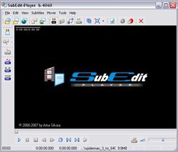 SubEdit Player screen2