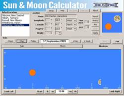 Sun & Moon Calculator screen 1