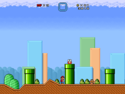 Super Mario Bros X  screen 1