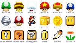 Super Mario Icons screen 2