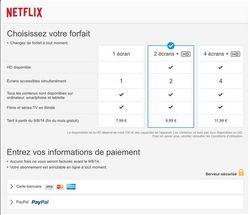 tarifs Netflix