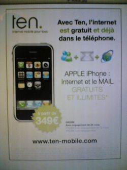Ten mobile iphone