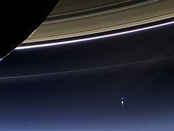 Terre vue de saturne