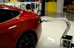 Tesla recharge automatique