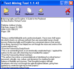 Text Mining Tool screen2