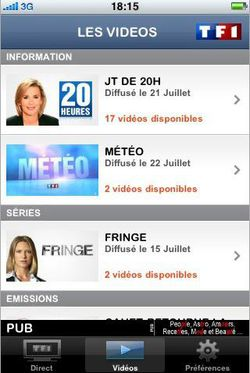 TF1 Player iPhone 02