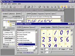 The Font Thing screen 1