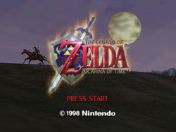 The Legend of Zelda : Ocarina of Time - Ecran titre