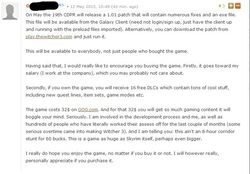The Witcher 3 torrent - commentaire CD Projekt RED