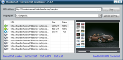 ThunderSoft Free SWF Downloader screen1