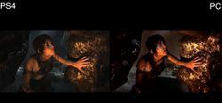 Tomb Raider - comparatif PS4:PC