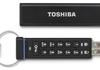 Toshiba : une clé USB avec pavé numérique pour protéger les données à bord