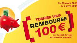 Toshiba remboursement