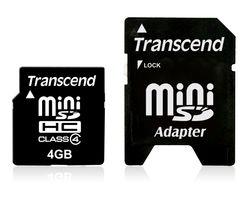 Transcend 4gb minisdhc