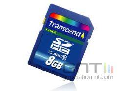 Transcend carte sdhc 8 go classe 6 small