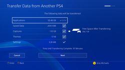 Transfert PS4 vers PS4 Pro - 1