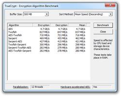 TrueCrypt screen 2
