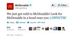 Twitter Burger king McDonald's 1