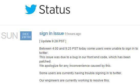 Twitter-Statut