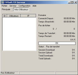 TYPsoft FTP Server screen1