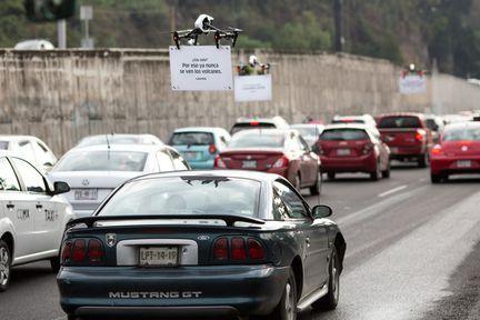 Uber drone mexico