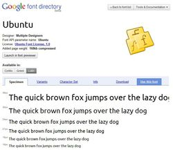 Ubuntu-font-google