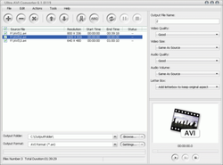 Ultra AVI Converter screen1