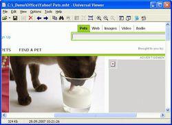 Universal Viewer screen 1
