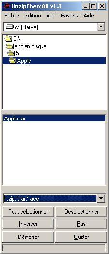 UnzipThemAll screen2