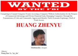 USA-FBI-Chine-officiers-hackers-Huang-Zhenyu