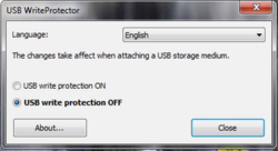 USB WriteProtector screen 2