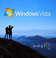 Vista arriving