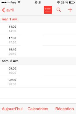 Vues calendrier iOS (2)