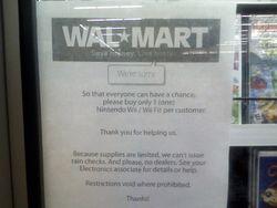 Wall-Mart - pénurie Wii