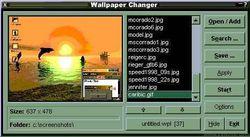 Wallpaper changer screen