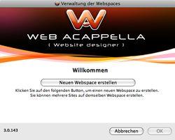 Web Acappella screen2